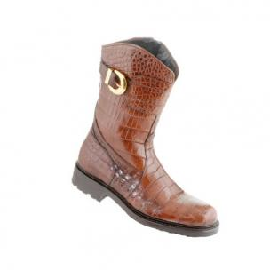 Caporicci Alligator Motorcycle Boot Castagno Brown Image