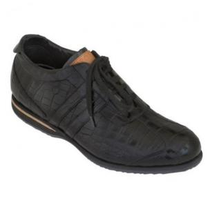 Caporicci All-Over Alligator Sneakers Black Image