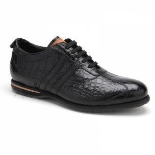 Caporicci All-Over Alligator Sneakers Black Image