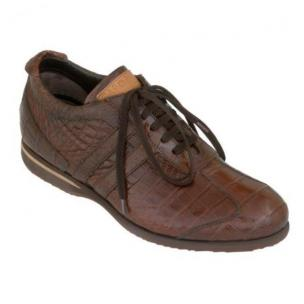 Caporicci All-Over Alligator Sneakers Brown Image