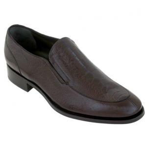Caporicci Split Toe Ostrich Leg Loafers Dark Brown Image
