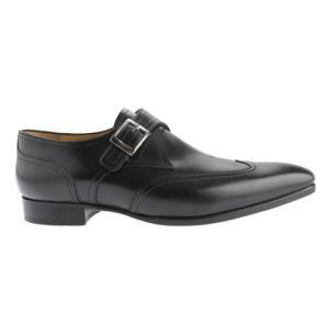 Carlos Santos 7991 Paz Monk Strap Wingtip Shoes Black Image