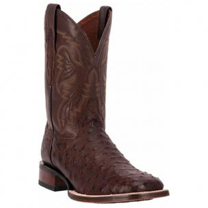 Dan Post Alamosa DP3875 Mad Dog Full Quill Ostrich Boots Chocolate Image