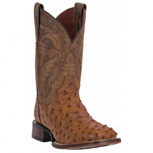 Dan Post Alamosa DP3876 Mad Dog Full Quill Ostrich Boots Saddle Tan / Brown Image