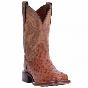 Dan Post Alamosa DP3877 Mad Dog Full Quill Ostrich Boots Cognac / Brown Image