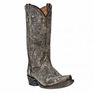 Dan Post Anaheim DP3605 Distressed Softee Boots All Over Grey Image