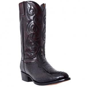 Dan Post Bellevue DP26629 Ostrich Leg Western Boots Black Cherry Image