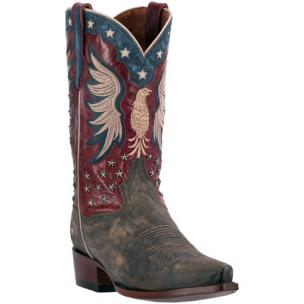 Dan Post Bountiful DP2505 Leather Boots Bay Apache / Red Image
