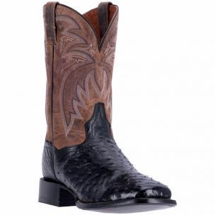Dan Post Calhoun DP4530 Full Quill Ostrich Boots Black / Tan Image