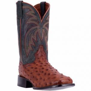Dan Post Calhoun DP4533 Full Quill Ostrich Boots Cognac / Black Image