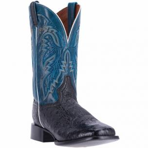 Dan Post Callahan DPP5201 Smooth Ostrich Boots Black / Denim Image