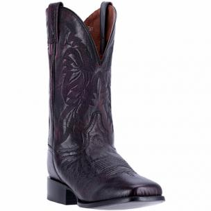 Dan Post Callahan DPP5204 Smooth Ostrich Boots Black Cherry Image