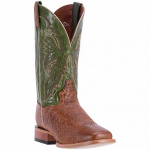 Dan Post Callahan DPP5212 Smooth Ostrich Boots Antique Saddle / Olive Image