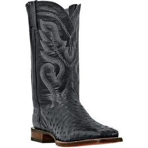 Dan Post Chandler DP2980 Ostrich Quill Boots Black Image