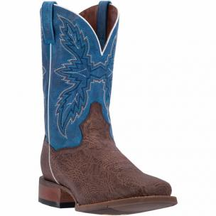 Dan Post Clark DP2431 Shrunken Shoulder Boots Chocolate / Blue Image