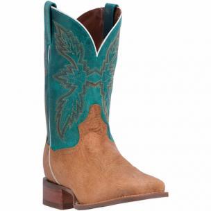 Dan Post Clark DP2433 Shrunken Shoulder Boots Tan / Turquoise Image