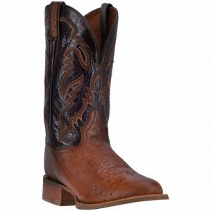 Dan Post Conrad DPP5209 Smooth Ostrich Boots Bay Apache / Chocolate Image