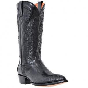Dan Post Durham DP2350J Lizard Western Boots Black Image