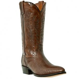 Dan Post Durham DP2351J Lizard Western Boots Antique Tan Image