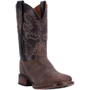 Dan Post Hurst DP3878 Sanded Lizard Boots Chocolate Image