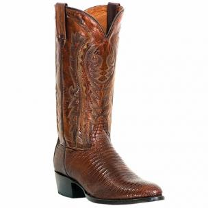 Dan Post Raleigh DP2351R Lizard Western Boots Antique Tan Image