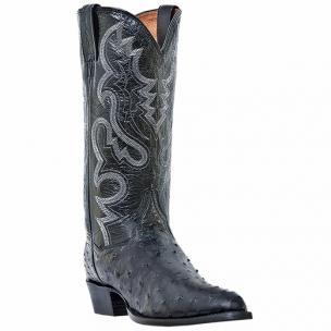 Dan Post Tempe DP2321  Ostrich Boots Genuine Black Image