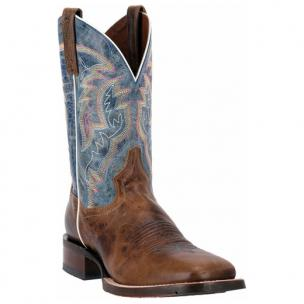 Dan Post Teton DP3885 Lava Leather Shaft Boots Blue / Tan Image