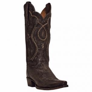 Dan Post Tyree DP26680 Rustic Saddle Boots Chocolate Image
