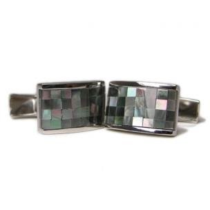Daniel Dolce Mosaic Mother of Pearl Cufflinks BV566BLK Image