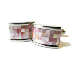 Daniel Dolce Mosaic Mother of Pearl Cufflinks BV566P Image
