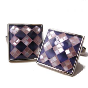 Daniel Dolce Mosaic Mother of Pearl & Fiber Optic Cufflinks DI2021 Image