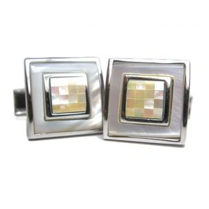 Daniel Dolce Mosaic Mother of Pearl Cufflinks DI2251 Image