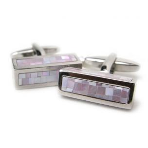Daniel Dolce Mosaic Mother of Pearl Cufflinks DI2373 Image
