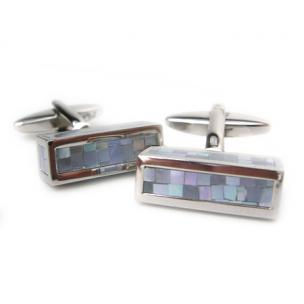 Daniel Dolce Mosaic Mother of Pearl Cufflinks DI2374 Image