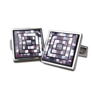 Daniel Dolce Mosaic Mother of Pearl Cufflinks DI2391 Image