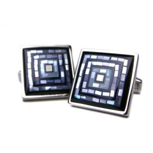 Daniel Dolce Mosaic Mother of Pearl Cufflinks DI2392 Image