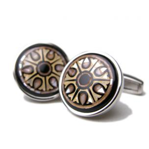 Daniel Dolce Mosaic Mother of Pearl Cufflinks DI2401 Image