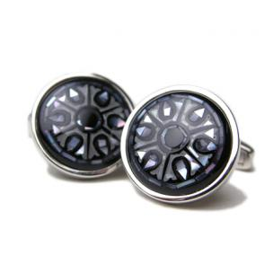 Daniel Dolce Mosaic Mother of Pearl Cufflinks DI2402 Image