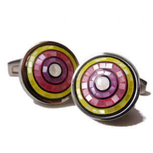 Daniel Dolce Mosaic Mother of Pearl Cufflinks YM307R8 Image