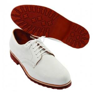 David Spencer Buck II Nubuck Derby Shoes White Image