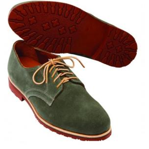 David Spencer Buck II Suede Derby Shoes Denim Image