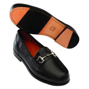 David Spencer LaSalle Pebble Grain Bit Loafers Black Image