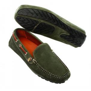 David Spencer Magellan Suede Venetian Driving Shoes Denim Image