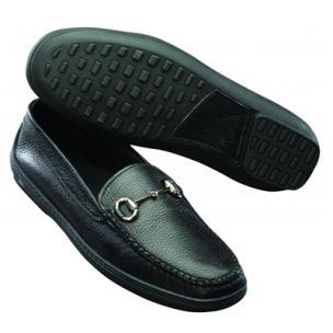 David Spencer Pebble Grain Bit Driving Shoes Black Image
