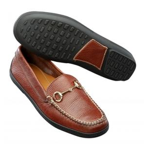 T.B. Phelps Pebble Grain Bit Driving Shoes Walnut Image
