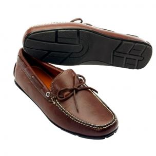 David Spencer Verona Euro Twist Tie Driving Shoes Brown Image