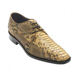 David X Alex Python Derby Shoes Beige Image