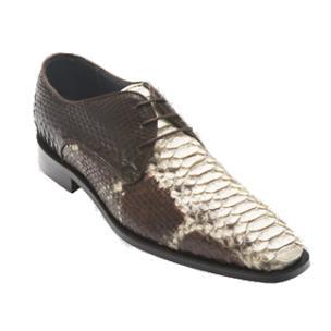 David X Alex Python Derby Shoes Natural / Brown Image