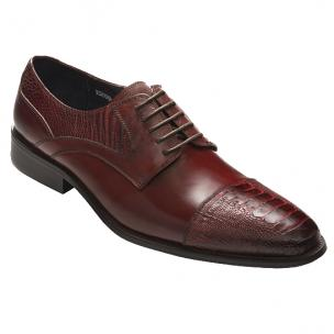 David X Bruner Ostrich & Calfskin Cap Toe Shoes Image