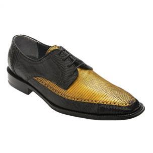 David X Guam Lizard Shoes Black / Gold Image